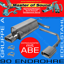 MASTER OF SOUND V2A SPORTAUSPUFF DUPLEX OPEL ASTRA H GTC OPC TURBO