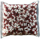 1000 EMPTY GELATIN CAPSULES gel SIZE 0  Colored White/Red Kosher/Halal