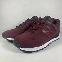 New Balance 574 Burgundy Cordura Fabric Running Shoes ML574ECD Men's Size 9