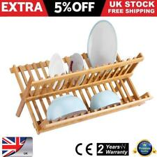 Folding Kitchen Sink Dish Drainer X Shape Plate Cups Dry Rack Bamboo Discount