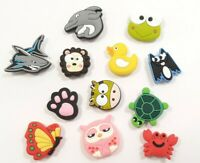 12 New Crocs Charms Jibbitz Animals Frog Turtle Owl Dolphin Dog Cat Fast Ship K1