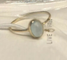 NEW! Size 5 Puravida Genuine Sterling Silver Chalcedony  Oval Stone Ring