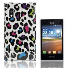 HardCase Backcover für LG E610 Optimus L5 Leopard Style bunt Schutzhülle Cover