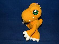 "Digimon Digital Monsters Agumon Plush Stuffed Doll Banpresto 2000 Hanger 5"""