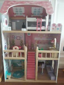 Magione Casa delle Bambole Grande Bambine Wood DAMERIK legno montata tenuta bene