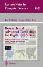 Lecture Notes in Computer Science: Research and Advanced Technology for...