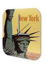 Horloge murale Déco Ville  New York Statue de la Liberté Imprimee Acrylglas