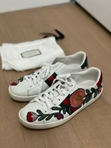Gucci Ace Sneakers Embroidered Floral Size 37 (7 US) Women