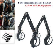 41-51MM Black Fork Headlight Mount Brackets For Motorcycle Cafe Racer Adjustable