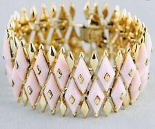 Coro Vintage Rare 1950's Marquette Pink Lucite Bracelet