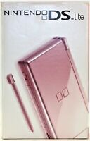 Nintendo DS Lite Metallic Rose Pink Game Console Brand New Factory Sealed