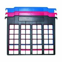 Advantus File and Folder Dividers, 3-Count, Red, Blue, and Black (50912)
