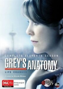 Grey's Anatomy : Season 11 DVD (PAL, 2015, 6-Disc Set) BRAND NEW - FREE POST