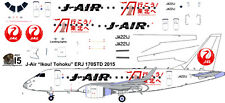 J Air Ikou Tohoko Embraer ERJ 170 1/144 airliner decals for Hasegawa kit