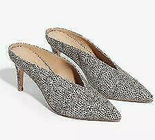 *EXPRESS FAUX SUEDE PRINTED HEELED MULES sz 7 (as is)