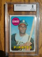 **CENTERED BEAUTY** 1969 Topps Roberto Clemente BVG 8 NM-MT