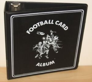 """Lot of 4 BCW Black Football Card Collection 3"""" D-Ring Albums binders books"""