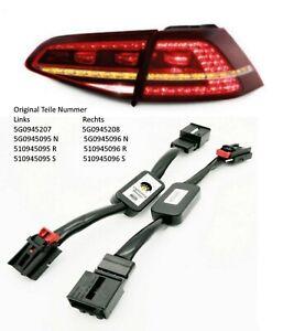 Semi Dynamische Blinker LED Heckleuchte Rücklichter Adapter Modul für Golf 7 6