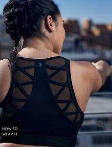NWT - Womens Plus Size 5X Torrid Black Mesh Insert Strappy Wicking Sports Bra