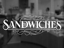 FRESH SANDWICH Window Sticker, Shop, Salon, Bar, Cafe, CAFE, Coffee Tea