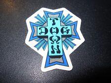 "DOGTOWN dog town Skate Sticker Blue Cross 2 X 1.5"" skateboards helmets decal"