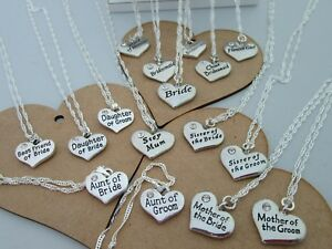 PERSONALISED BRIDAL WEDDING GIFT BRIDE, BRIDESMAID ETC NAMED PENDANT NECKLACE