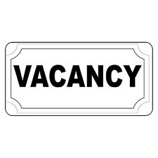 Vacancy Black Retro Vintage Style Metal Sign - 8 In X 12 In With Holes