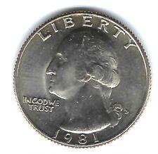1981-D Denver Brilliant Uncirculated Washington Quarter!