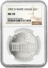 1992 D $1 White House 200th Anniversary Commemorative Silver Dollar NGC MS70