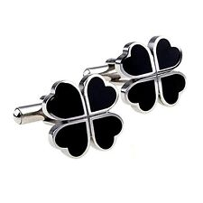 4 Leaf Clover Cufflinks Mens Business Shirt Sleeve Cuff Link Party - In Gift Box