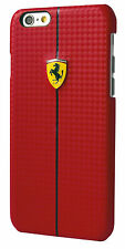 Official Ferrari Red Carbon  Effect iPhone 6 6S Plus Hard Case  FEFOCHCP6LRE