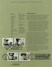 #0527 37c Distinguished Marines #3961-64 Souvenir Page