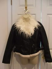 NWT  a.n.a   shaggy faux fur trimmed motercycle style jacket pM 8-10