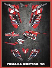 Yamaha Raptor 90 SEMI CUSTOM GRAPHICS FREE CUSTOMIZATION KIT LIGHTNING1