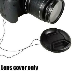 55mm Snap Front Camera Lens Cap Cover With String Lens Cover Protector HOT!!