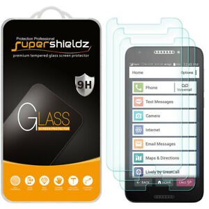 3-Pack Supershieldz Tempered Glass Screen Protector for Jitterbug Smart2