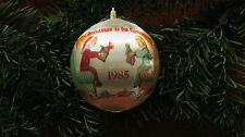 Christmas Ornament - Christmas Is For Giving - 1985 Satin Ornament W/Box
