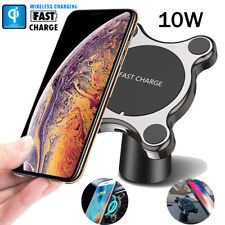 Wireless Car Charger Magnetic Phone Holder Qi Fast Charge Pad for Samsung iPhone