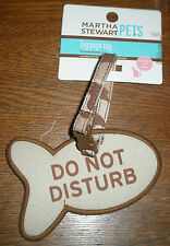 Cat Carrier Fish 'Do Not Disturb' Shaped Luggage Tag - Martha Stewart NWT Brown