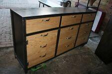 Buffet 3 portes 3 tiroirs bois et métal sur mesure  meuble industriel