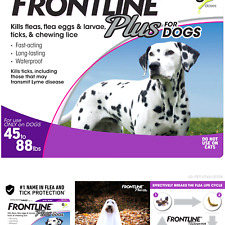 New listing Frontline Plus Flea and Tick Treatment for Dogs (Large Dog, 45-88 Pounds)