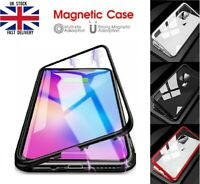 Magnetic Adsorption Metal Case Tempered Glass Screen Film For Apple iPhone 11