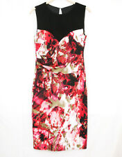 SLEEVELESS ABSTRACT FLORAL PARTY DRESS SIZE 12