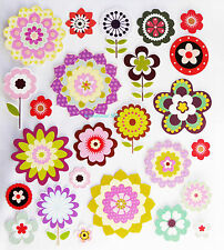 FLOWER GLITTER STICKERS, EMBELISHMENTS, SCRAPBOOKING & CARD CRAFT, STK/11/0001