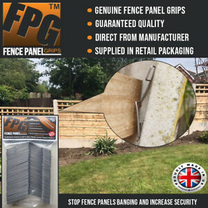 Fence Panel Grips Clips Stop Fence Panels Rattling Anti Rattle 60 Pk (10 Panels)