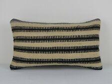 12'' x 20'' Boho Kilim Pillow Cover, Handmade Outdoor Garden Decor Cushion
