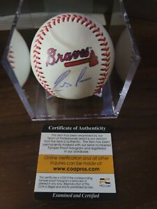 Ronald acuna Jr signed Baseball With Cube And Cert Auto braves ball mlb