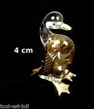 magnifique canard en verre avec dorures, miniature de collection   G10-10