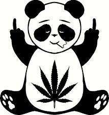 Pot Leaf Panda Decal Vinyl Home Decor Hippie Sticker MARIJUANA Middle Finger 420