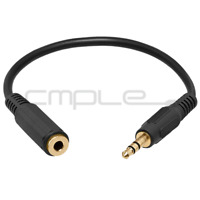 """6 Inch 3.5mm 1/8"""" Stereo Audio Aux Headphone Cable Extension Cord M to F MP3"""